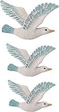 Vosarea 3Pcs Resin Wall Hanging Seagulls Birds Nautical Beach Wall Decorations