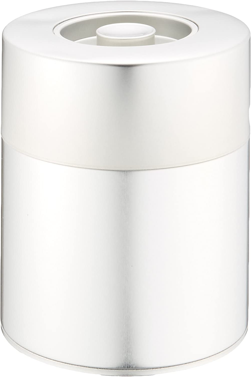 Silver Tea Bombing free shipping Max 82% OFF Tin Canister: Wide type 560g Knob 19.7oz b with