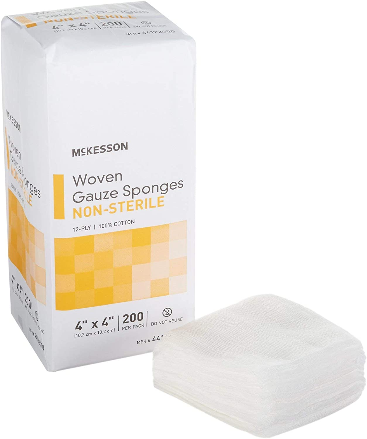 McKesson 12-Ply Gauze Sponge A surprise price is realized NonSterile 4 x 10 Bag At the price 200 s pe 4