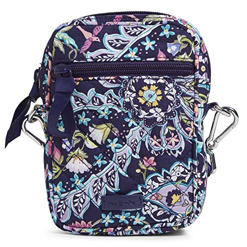 Vera Bradley Signature Cotton Small Convertible Crossbody Purse with RFID Protection, French Paisley