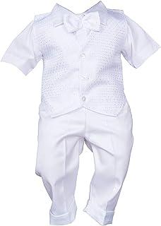 Tenue de baptême d'été - Ensemble de 3 pièces - Blanc