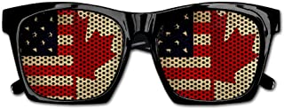 Elephant AN Themed Novelty Vintage American And Canadian Flags Wedding Visual Mesh Sunglasses Fun Props Party Favors Gift Unisex