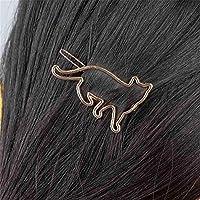 YHMN かわいい猫型のヘアピンジュエリーヘアアクセサリーヘアスタイリングツールの髪飾り (Color : 2)