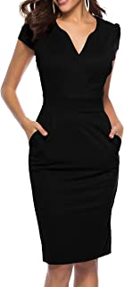 3913c55ed8 CEASIKERY Women s Business Retro Cocktail Pencil Wear to Work Office Casual  Dress