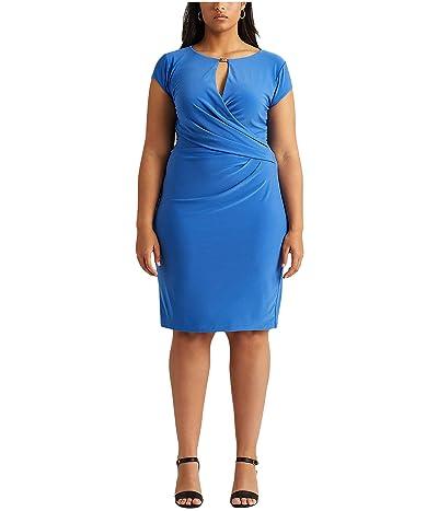 LAUREN Ralph Lauren Plus Size Wrap Style Jersey Dress