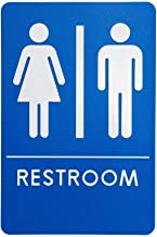 Unisex Restroom Sign, ADA-Compliant Bathroom Door Signs for Offices, Businesses, and Restaurants   Made in USA (1)