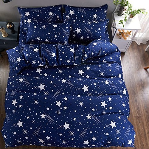Reliable Trends Polycotton Queen Size Quilt Cover (Blue, 90x100-inch)