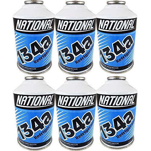 Chemours National Refrigerant R134a for MVAC use in a 12-Ounce Self-Sealing Container, Pack of 6