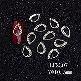 Joyas de aleación de uñas Accesorios de uñas geométricas de plata Pisos de fototerapia Red Rojo Simple Nail Metal Joyería-2307