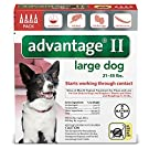 Advantage Pet Care Flea Control for Dogs and Puppies 21-55 Lbs 4 Pack