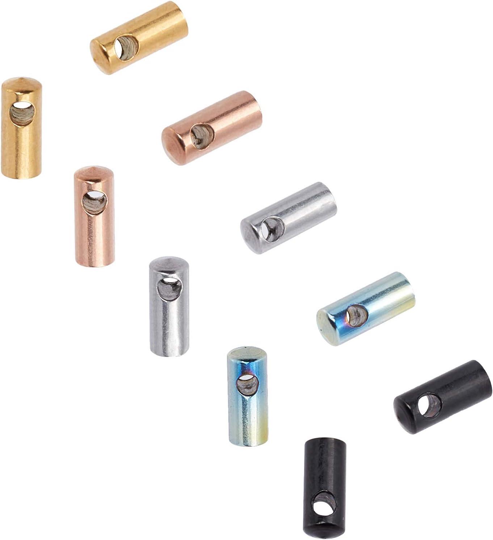 UNICRAFTALE About 40pcs 5 Sale item Colors 2.5mm Cap security End Dia Inner Column
