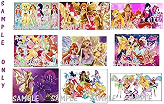 9 Winx Club Inspired Stickers, Favors, Labels, Birthday, Decorations, Party Supplies,Gifts,Scrapbooking, Crafts, Rewards