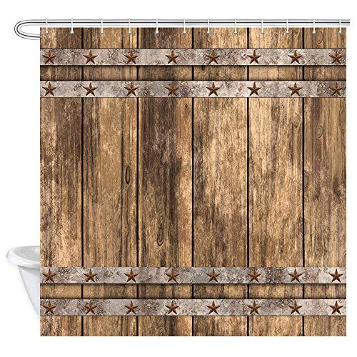 KOTOM Floral Duschvorhang, Ombrerot & Blaugrün Farbverlauf Rampe, Polyester-Gewebe Anti-Schimmel Wasserdicht 177,8 x 177,8 cm Duschvorhänge, Badezimmerzubehör 12 Haken im Lieferumfang enthalten