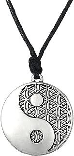 Wicca Amult Religious Taolist Ying Yang Symbol Balance of Life Pendant Necklace