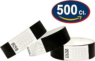Tyvek Wristbands - 500 Pack - Black - 3/4