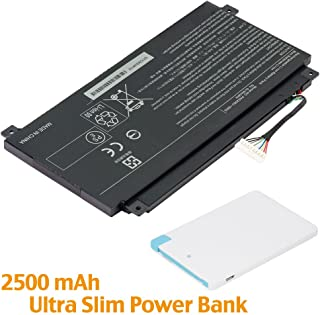 Battpit™ Laptop/Notebook Battery Replacement for Toshiba Satellite Fusion L55W-C5320 (3860mAh/45WH) with 2500mAh Power Bank/External Battery for Micro USB & USB Type C.