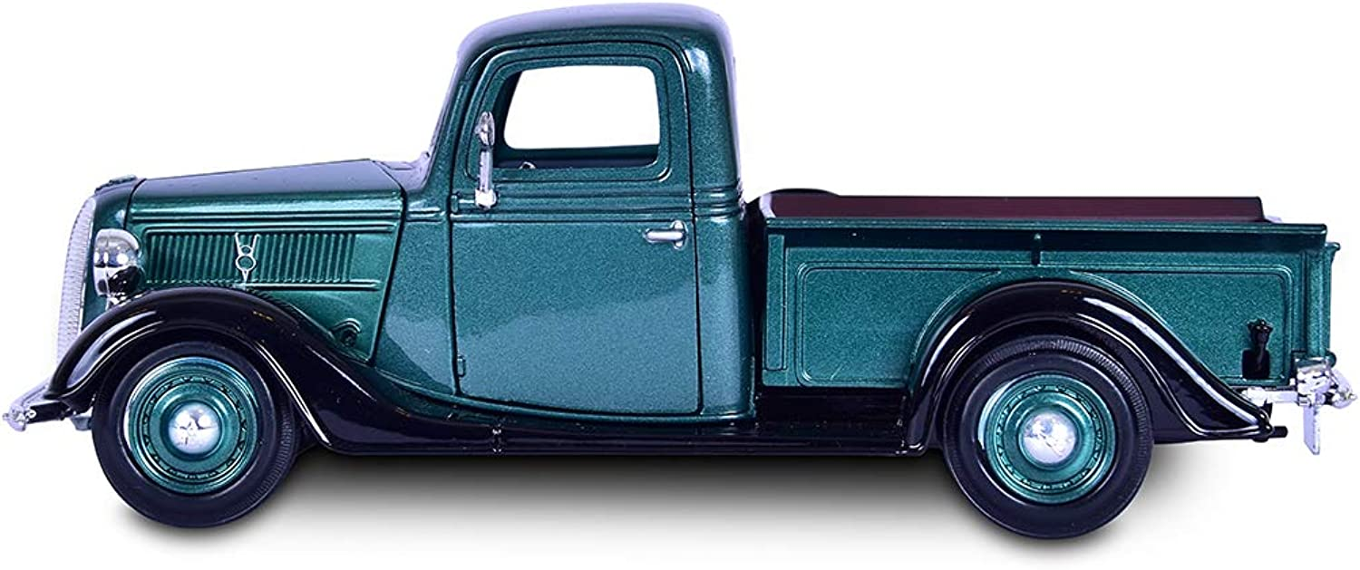 1 24 Motor Max Ford Pickup 1937 green 73233