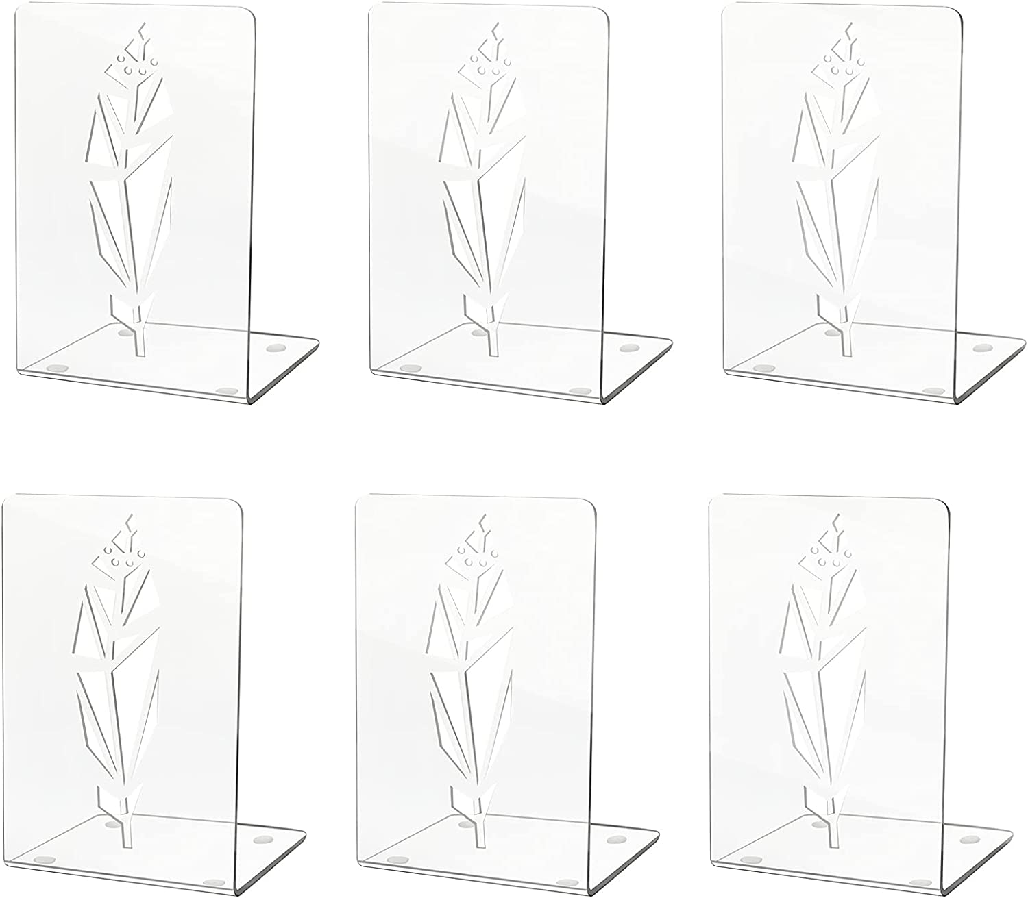 Acrylic Bookends Clear for Long-awaited Plastic Su Shelves Bookend National uniform free shipping