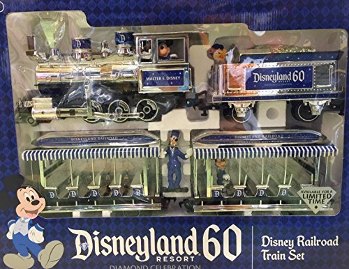 Disneyland 60th Anniversary Diamond Celebration Disneyland Railroad Train Set - Limited Edition by Disney Official Merchandise