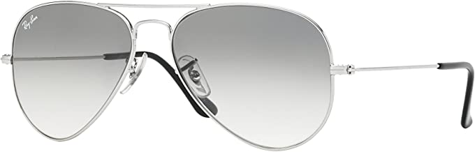 New Ray Ban Aviator RB3025 003/32 Silver/ Crystal Grey Gradient 58mm Sunglasses