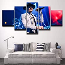 AIXYX 5 Piece Chester Bennington Pictures Linkin Park Poster Painting Home Decor-40X60Cmx2,40X80Cmx2,40X100Cmx1