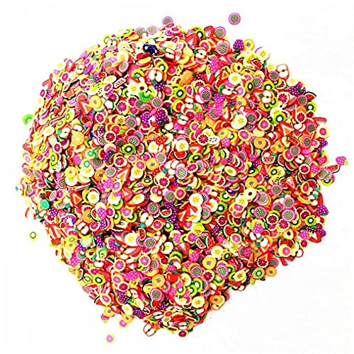 TOSSPER Zestaw akcesoriów do glutów puszyste y owocowe polimer przezroczysty szlamowy akcesoria wsuwane glinka zabawki dla dzieci