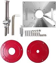 Festnight Aleación de aluminio multifuncional Router Table Insert Plate Trimmer Máquina de grabado Herramienta de carpintería Banco
