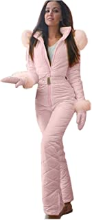 HINK Mono para Mujer, Traje de esquí con Cremallera para Deportes al Aire Libre, Informal, Grueso, de Moda para Mujer
