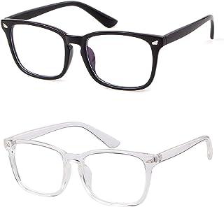 GIFIORE Blue Light Blocking Glasses Square Nerd Eyeglasses Frame Anti Blue Ray Computer Game Reading Glasses