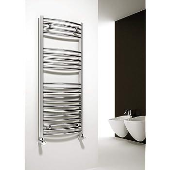 Toallero de radiador con calefacción central y escalera, de lujo, cromado, calentador de toallas: Amazon.es: Bricolaje y herramientas