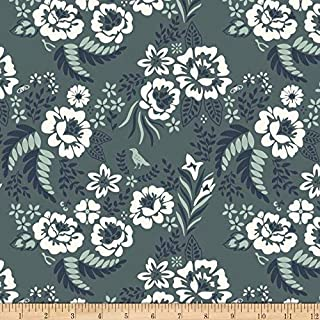 Birch Organic Merryweather Floral Canvas Slate