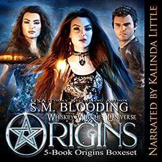 Whiskey Witches Series: Books 0-4     Whiskey Witches Series Boxset, Book 1              By:                                                                                                                                 S.M. Blooding                               Narrated by:                                                                                                                                 Kalinda Little                      Length: 49 hrs and 34 mins     130 ratings     Overall 3.5