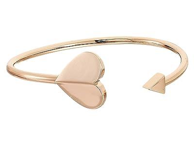 Kate Spade New York Heritage Spade Metal Spade Flex Cuff (Rose Gold) Bracelet