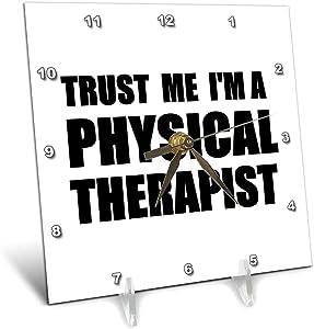 3dRose DC 195644_ 1Trust Me im a Therapist Terapia Fisica Work Humor Funny Job Gift Orologio da Tavolo, 6da 15,2cm