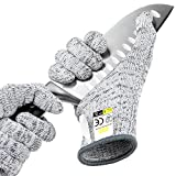 Glove Station Ultra Durable Series Cut Resistant Gloves - High Performance Level 5 Protection, Food Grade, Granite Gray,...