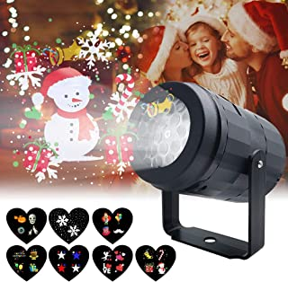 Christmas Projector Lights for Indoor, Rotating Snowflake LED Christmas Light with 7 Multicoloured Switchable Slides for Graduation Prom, Holiday, Halloween, Birthday, Valentine's, Easter, Party Decor