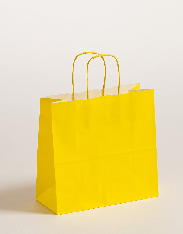 Geschenktasche Papiertragetaschen Gelb 25 x 11 x 24cm VE 250 Stück B0746J72XH | Moderater Preis