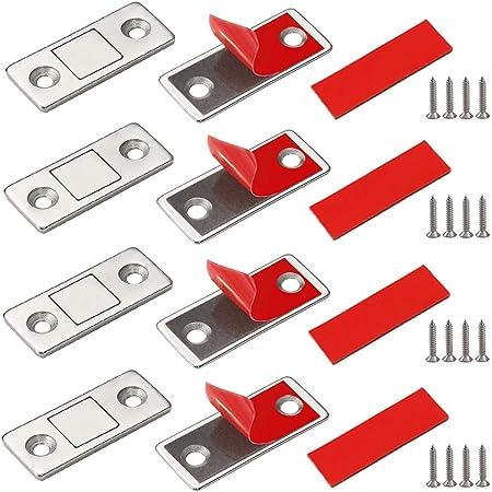 Calamita Porta Haice 3 Pezzi Chiusura Magnetica per Ante Ultra Sottile Calamita per Cassetti Adesivo Chiudiporta Calamita da Armadio per Ante Cucina Porta Magnete Mobili Magneti per Chiusure