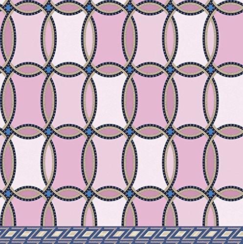 ZUCCHI COLLECTION Cameo Telo arredo Multiuso Foulard Copriletto in Puro Cotone Alta Qualità Copridivano colore Lilla 270x270cm