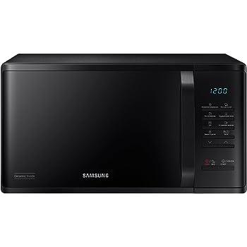 Samsung MG23K3614AW//EG Micro-ondes avec gril 23 l 800 W//Grande grille pour cuisson homog/ène///émail en c/éramique r/ésistant aux rayures