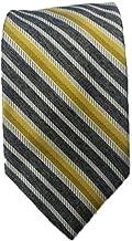 Jhane Barnes Gray with Multi Color Stripes Executive Silk Tie