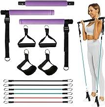 Pilates-oefenstokkenset met weerstandsbanden, yogabar met voetriem voor volledige lichaamstraining, thuistrainingsapparatu...