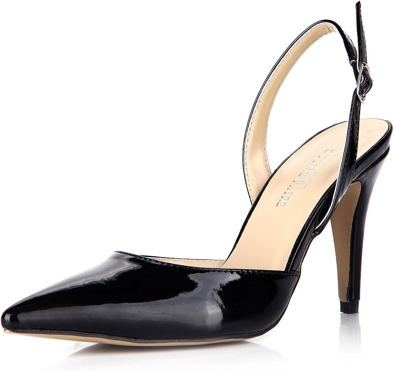 Klicken Sie auf  Frauen Frauen Frauen Sommer neue Produkte in die Spitzen der großen Schwarz lackiert der Frauen Leder nach dem high-heel Schuhe B075B6LMZ9  Vielfältiges neues Design 1cb9ed