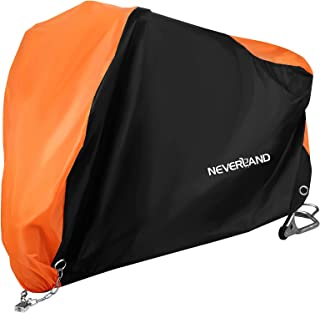 NEVERLAND Motorcycle Cover,Outdoor Waterproof Oxford Cloth UV Dust Protector lockable Bandage scooter Cover Fits 106