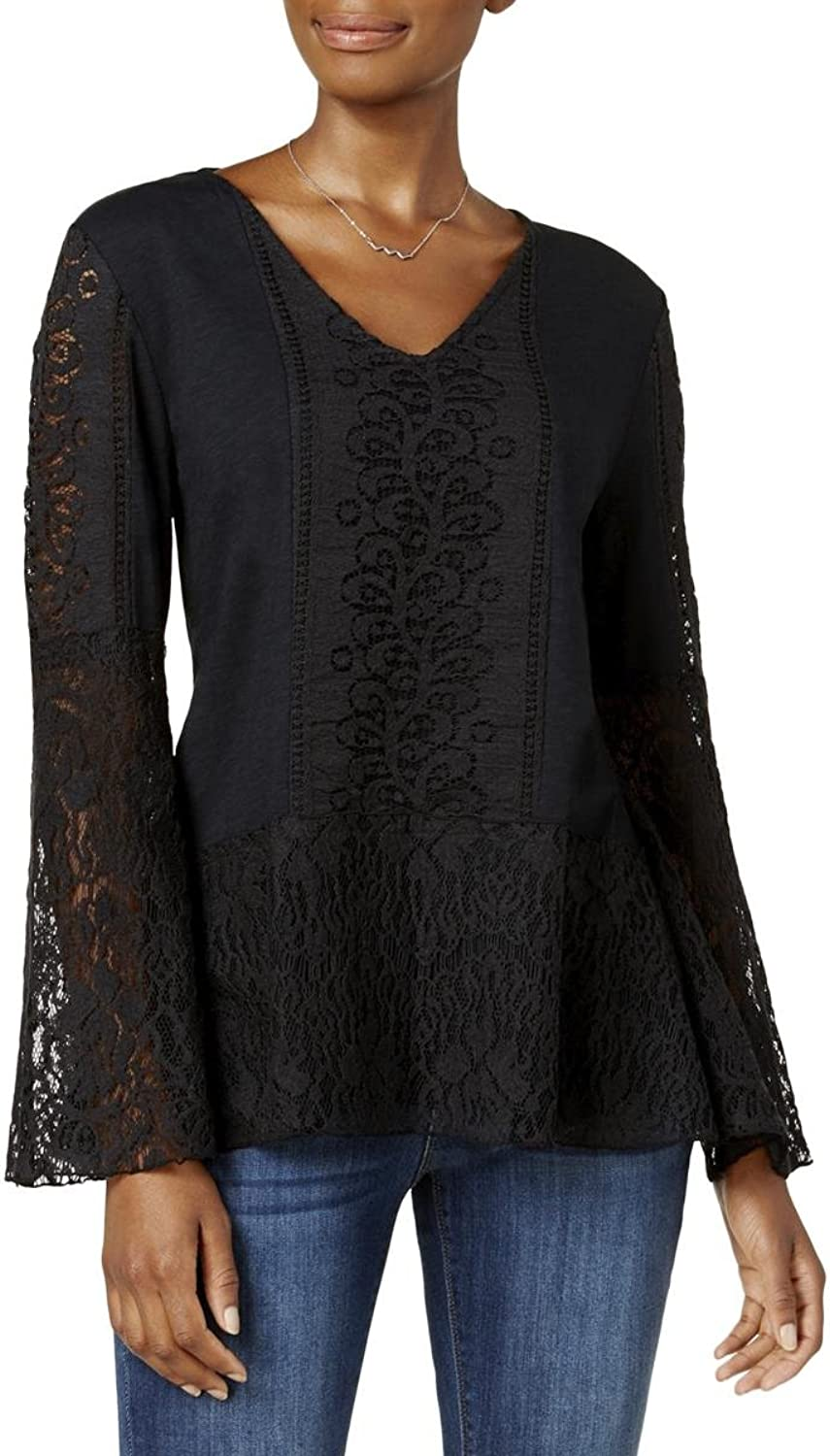 Style & Co. Lace BellSleeve Top