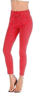 RkBaoye Women's Body Enhancing Bowknot Comfort Fashional Cropped Leggings