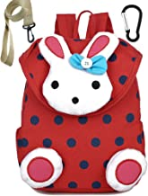 Canvas Toddler Kids Daycare Backpack School Bags Rabbit for Girls Under 3 Years