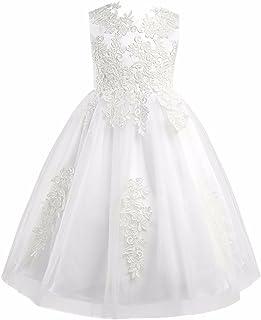 FEESHOW Girls' Flower Girl Dress Princess Pageant Wedding Bridesmaid Birthday Party Dress
