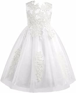 FEESHOW Girls' Flower Girl Dress Princess Pageant Wedding Bridesmaid Birthday Party Dress