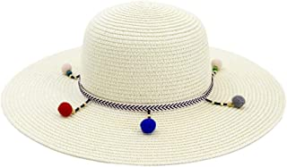 LiJuan Shen Sun Hat Colorful Folding Handmade Stone Straw Hat Women Hat Summer Leisure Beach Hat Shade